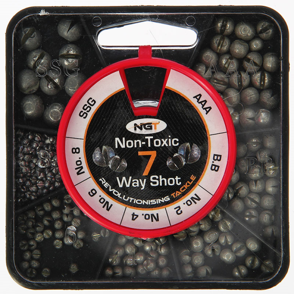 7 WAY NON TOXIC SPLIT SHOT FISHING TACKLE